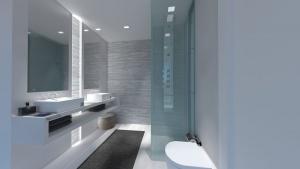 Infografia baño principal Oasis Añoreta