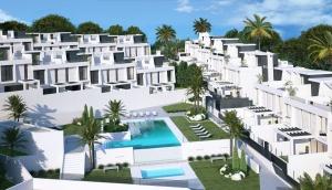 Infografia vista piscina urbanización oasis añoreta