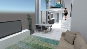infografia diseño interior planta baja