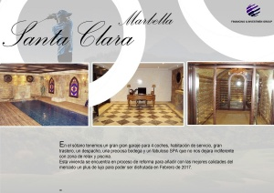 Publicidad dossier villas Marbella spa despacho y bodega