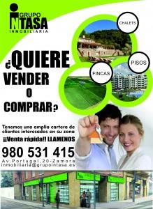 Publicidad cartel para inmobiliaria