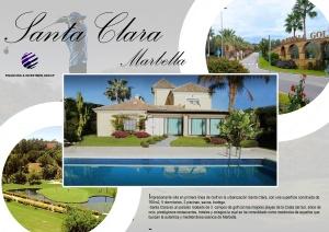 Publicidad dossier para villa en Marbella